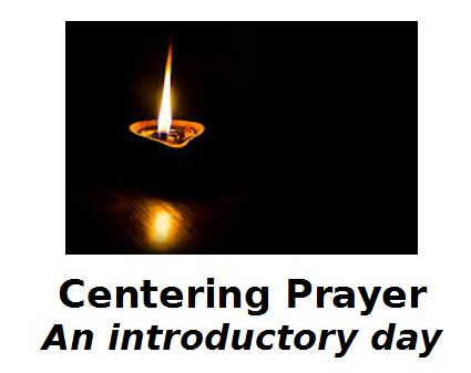 A single burning candle - logo of Centering Prayer