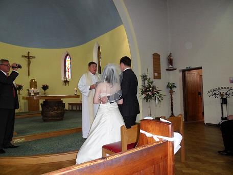 The happy couple in the Church